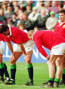 1993 - Dejected British Lions players as they head for defeat during the third Test against New Zealand