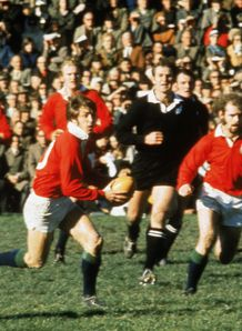 1971 - Barry John of the British and Irish Lions goes on the attack during a Test against New Zealand
