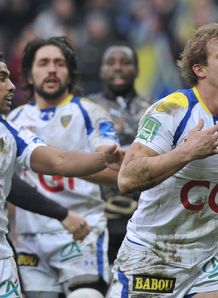 Aurelien Rougerie after scoring for Clermont