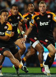 Chiefs centre Tim Nanai Williams on a break