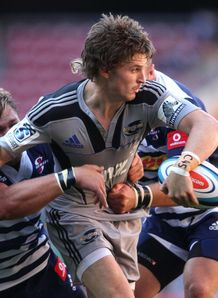 Hurricanes back Beauden Barrett offloading in 2012