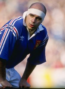 Laurent Benezech of France looks on