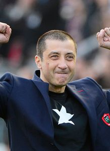 Mourad Boudjellal celebrating Heineken Cup quarter final win