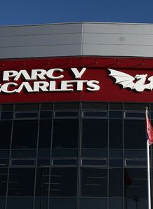 Parc Y Scarlets stadium front view