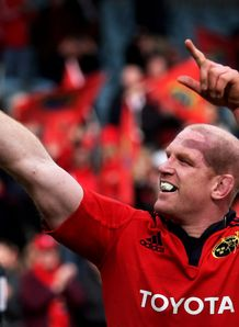 Paul O Connell celebrating Munster winning