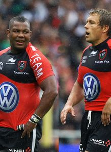 Steffon Armitage and Jonny Wilkinson of Toulon