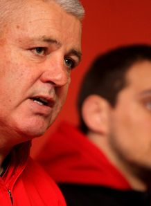 Warren Gatland sat with Sam Warburton at Wales presser