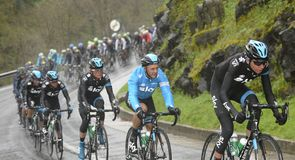 Team Sky set about defending the race lead on a tough, undulating stage