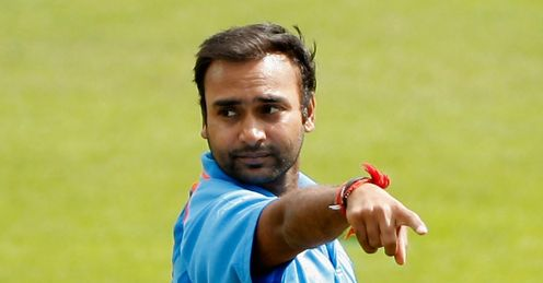 Amit Mishra India v Sussex Hove one-day tour match Aug 2011