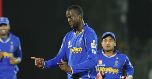 Kevon Cooper Rajasthan Royals v Kolkata Knight Riders Indian Premier League IPL Sawai Mansingh Stadium Jaipur Apr 2012