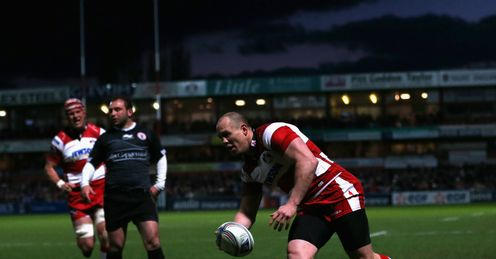 Mike Tindall Gloucester v Biarritz Amlin Challenge Cup quarter-final Kingsholm