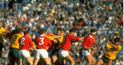 1989 - A punch up starts during the third Test between British Lions and Australia