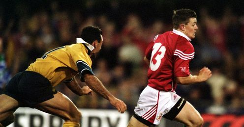 2001 - Brian ODriscoll of the British and Irish Lions dives over the line for a try during the First Test