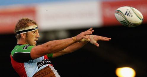 Chris Robshaw of Quins wins a lineout during the Heineken Cup M