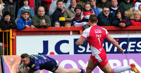 Josh Charnley Hull KR v Wigan Warriors Super League