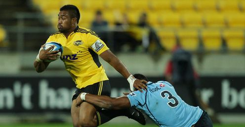 Julian Savea of the Hurricanes v Waratahs