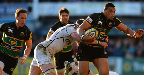 Luther Burrell Northampton Saints v Sale Sharks