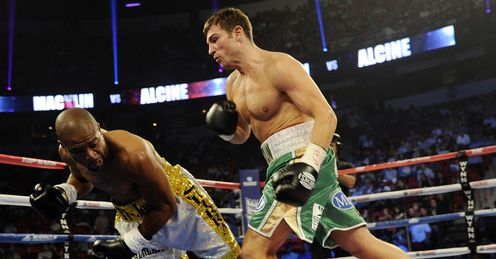 Macklin (R): bounced back from back-to-back world title defeats to beat Alcine