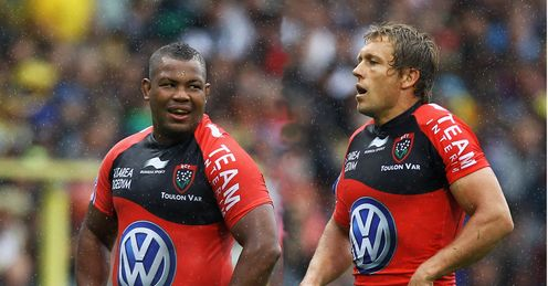 Wilkinson with Toulon team-mate Steffon Armitage