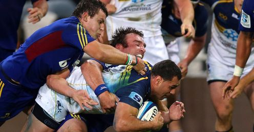 george smith highlanders v brumbies