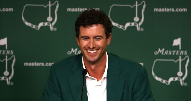 Adam Scott: All smiles after winning at Augusta last year