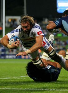 Andries Bekker disallowed try Blues v Stormers Round 12 2013