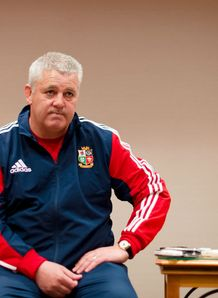 British and Irish Lions 2013 Warren Gatland holds his final press conference before departure
