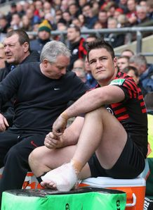 Brad Barritt Saracens injury HEC semi final 2013