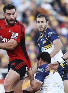Crusaders centre Ryan Crotty on a run