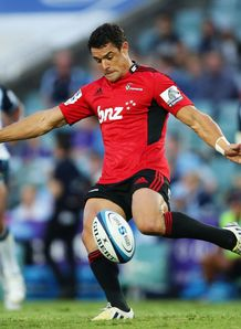 Dan Carter kicking from hand