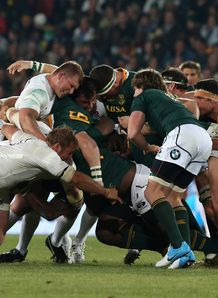 England and South Africa scrum