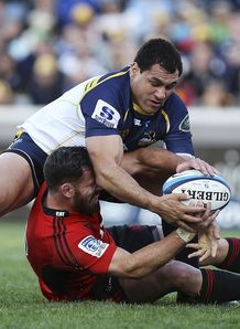 George Smith at the breakdown for Brumbies