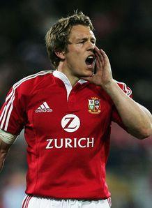 Jonny Wilkinson of the Lions shouts