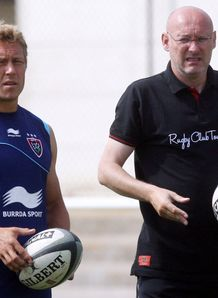 Jonny Wilkinson with Bernard Laporte