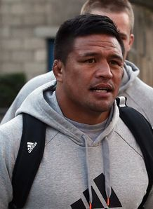 Keven Mealamu walking