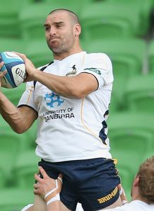 Scott Fardy Brumbies training 2013