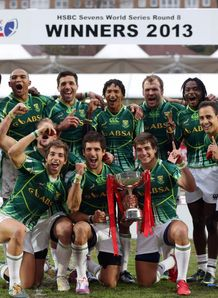 South Africa after winning Glasgow Sevens title
