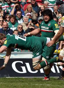 Tom Croft try Leicester v London Irish