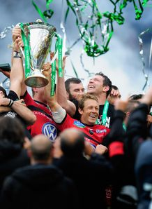 Toulon and Jonny Wilkinson with the Heineken Cup