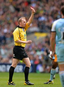 WAYNE BARNES RED CARD DYLAN HARTLEY
