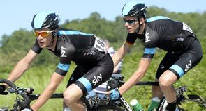 Salvatore Puccio and Christian Knees were working for new Team Sky leader Rigoberto Uran on stage 13