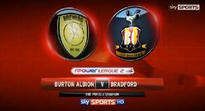 Burton Albion 1-3 Bradford