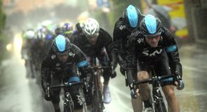 Team Sky worked hard to help an ill Sir Bradley Wiggins over the line on stage 12 of the Giro d'Italia