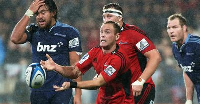 Crusaders muscle past Blues