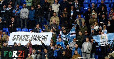 City fans salute Mancini
