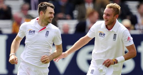 James Anderson and Stuart Broad: shared 15 wickets in the first Test