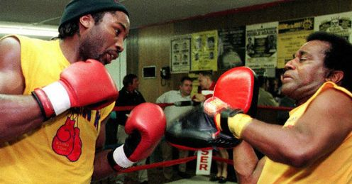 Lewis (L) had a great trainer in Emanuel Steward, but can he become one himself?