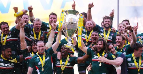 Leicester Tigers Aviva Premiership trophy