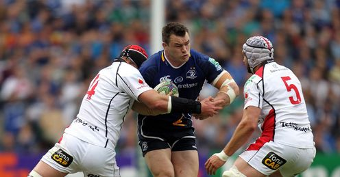 Leinster prop Cian Healy taking contact