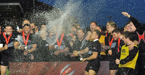 Newcastle Falcons celeb v Bedford Championship play-off final promotion to Premiership
